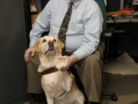 Mike at GDB holding Roselle\'s paw