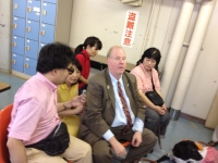 ence-museummike-being-intereviewed-by-blind-journalist-at-lunch-with-other-blind-people-back-ground-july-17-2012